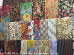 Colorful Indonesian batik in Thamrin City