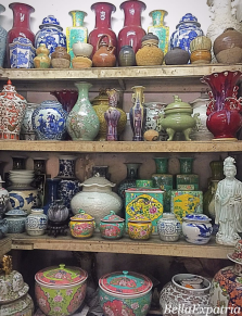 Colorful ceramic jars