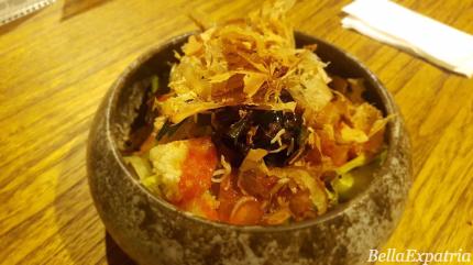 age tofu mentaiko salad