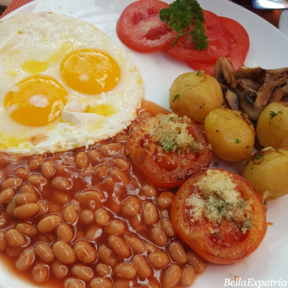 My vegetarian breakfast at Sun Shoot Bali, Seminyak