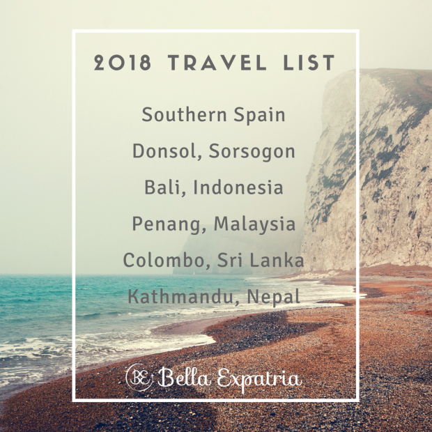 2018 Travel List